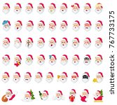 a vector illustration of santa... | Shutterstock .eps vector #767733175