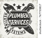 vintage logo graphic design ... | Shutterstock .eps vector #767733817