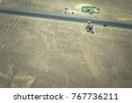 tree figure of the nazca lines... | Shutterstock . vector #767736211