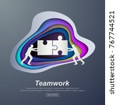 business concept illustration... | Shutterstock .eps vector #767744521