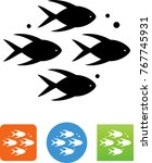 school of fish icon | Shutterstock .eps vector #767745931