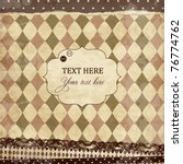 vector vintage scrap card with... | Shutterstock .eps vector #76774762