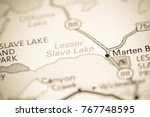 Lesser Slave Lake. Canada on a map.