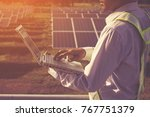 engineer working on checking... | Shutterstock . vector #767751379