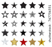 star icons. collection of 25...