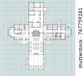 standard furniture symbols used ... | Shutterstock .eps vector #767759281