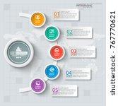 vector abstract 3d paper... | Shutterstock .eps vector #767770621