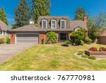 luxury home in suburbs with... | Shutterstock . vector #767770981