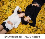 high angle view of couple of... | Shutterstock . vector #767775895