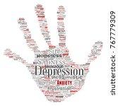 vector conceptual depression or ...   Shutterstock .eps vector #767779309