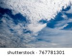 cloud in the shape of an... | Shutterstock . vector #767781301