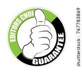 editors choice thumb up sticker ... | Shutterstock .eps vector #767783869