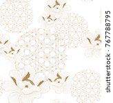 chinese pattern seamless vector.... | Shutterstock .eps vector #767788795