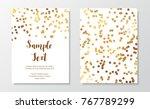 gold glitter border. golden... | Shutterstock .eps vector #767789299