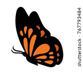 cartoon butterfly vector... | Shutterstock .eps vector #767793484