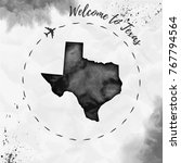texas watercolor us state map... | Shutterstock .eps vector #767794564