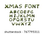 vector realistic isolated fir... | Shutterstock .eps vector #767795311