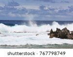breathtaking rolling waves...   Shutterstock . vector #767798749