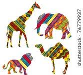 african animals   Shutterstock .eps vector #76779937