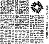 over 200 tribal tattoos. set 1 8 | Shutterstock .eps vector #76780168