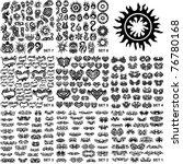 over 200 tribal tattoos. set 1 8 | Shutterstock .eps vector #76780168