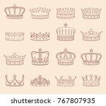set of crown illustrations | Shutterstock .eps vector #767807935