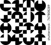 pattern of geometric shapes....   Shutterstock .eps vector #767808289