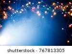 colorful christmas lights... | Shutterstock . vector #767813305