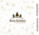 modern christmas background | Shutterstock .eps vector #767816299