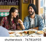a group of indian people is... | Shutterstock . vector #767816935
