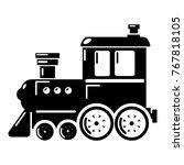 locomotive icon. simple... | Shutterstock .eps vector #767818105
