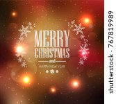 elegant christmas colorful... | Shutterstock .eps vector #767819989