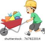 illustration of a kid boy... | Shutterstock .eps vector #767822014