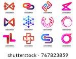 modern minimal vector logo for... | Shutterstock .eps vector #767823859