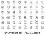 modern minimal vector logo for... | Shutterstock .eps vector #767823895