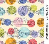 cute cars. kids  seamless...