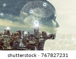 ai artificial intelligence ... | Shutterstock . vector #767827231