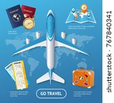 realistic 3d detailed travel... | Shutterstock .eps vector #767840341