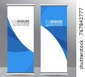 roll up business brochure flyer ...   Shutterstock .eps vector #767842777
