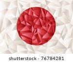 japan flag origami creative idea - great background for social designs - stock vector