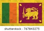 sri lanka flag   geometric...   Shutterstock .eps vector #767843275