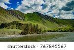 Idaho River Mountainscape With...
