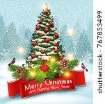 illustration for merry...   Shutterstock . vector #767853499