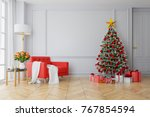 christmas tree decorate on... | Shutterstock . vector #767854594