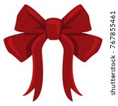 vector single color red bow... | Shutterstock .eps vector #767855461