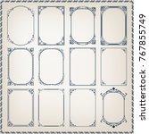 set of vintage frame with... | Shutterstock .eps vector #767855749
