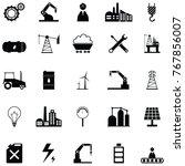 industry icon set | Shutterstock .eps vector #767856007