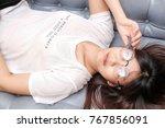 beautiful sexy asian glasses...   Shutterstock . vector #767856091