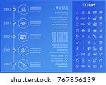 music timeline infographic... | Shutterstock .eps vector #767856139