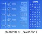 sports timeline infographic... | Shutterstock .eps vector #767856541